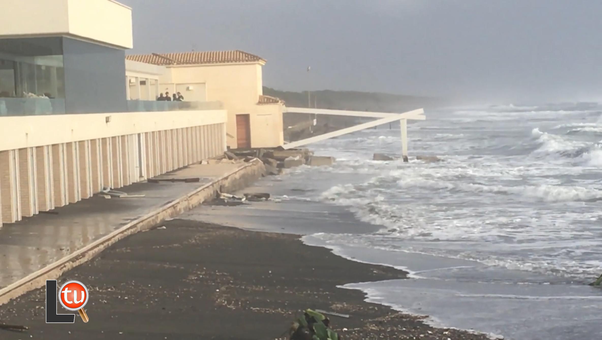Erosione costiera sulle coste laziali