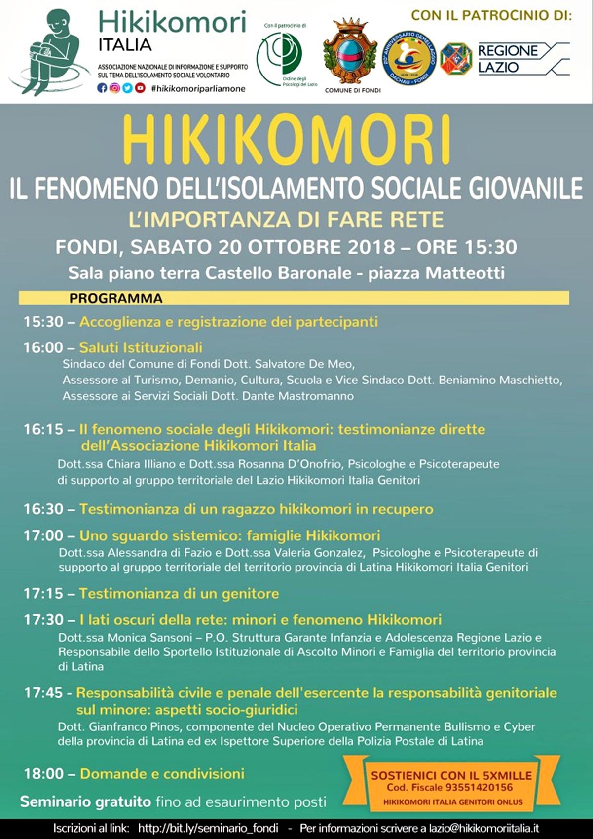 Seminario Hikikomori - Fondi 2018