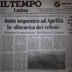 Articolo de Il Tempo, 1989