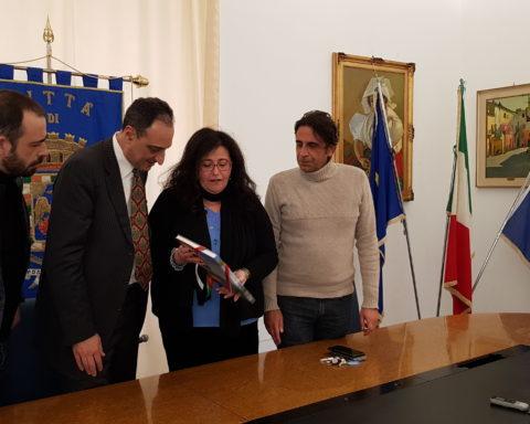 Paola Villa e il sindaco di Arpino