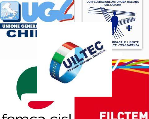 I cinque sindacati che hanno condotto la trattativa con i vertici della Corden Pharma