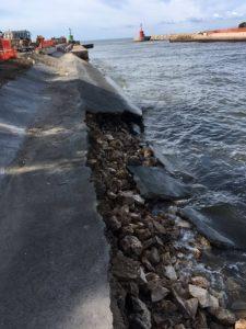 Rio Martino. Un'altra immagine delle sponde crollate sett. 2017