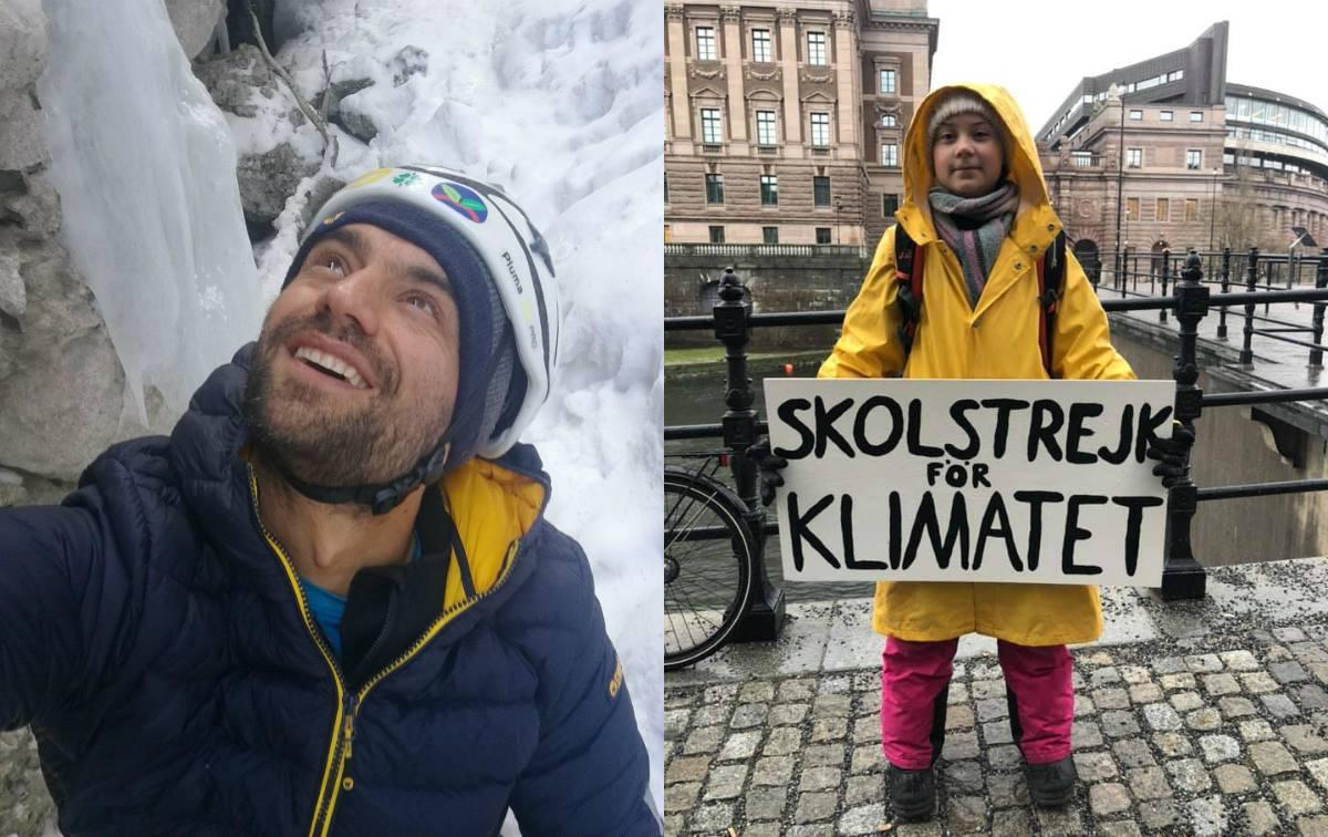 Daniele Nardi e Greta Thunberg