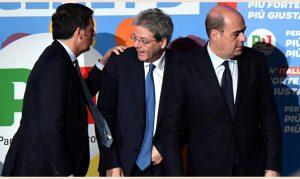 Zingaretti-Renzi-Gentiloni
