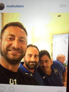 Latina Calcio al tempo di Maiettopoli: l'allenatore Mark Iuliano, il team manager Pierluigi Sperduti e Costantino Cha Cha Di Silvio