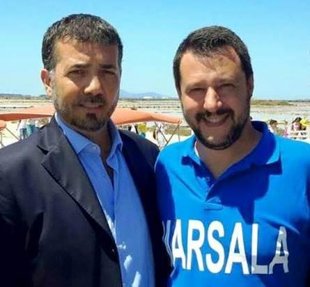 Il vice questore Bertolami e il Ministro dell'Interno Matteo Salvini