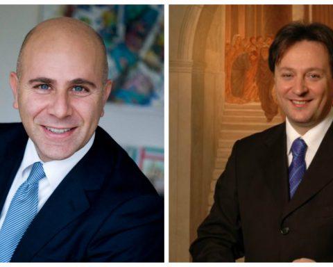 Il sindaco di Fondi Salvatore De Meo e il senatore Claudio Fazzone, entrambi di Forza Italia