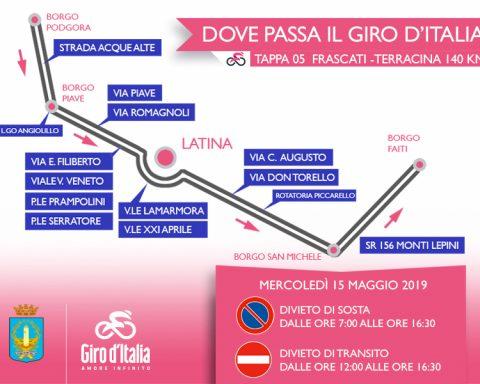 Dove passa il Giro a Latina