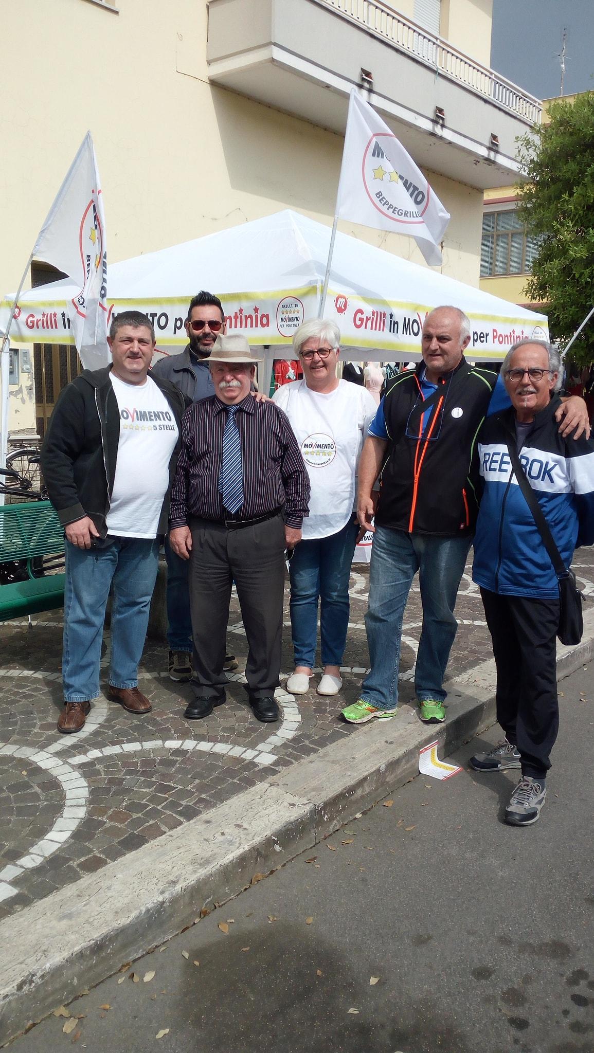 Gli attivisti del meetup di Pontinia