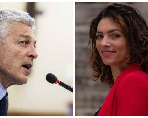 Il Presidente della Commissione Antimafia Nicola Morra e Vittoria Baldino, deputata e membro della Commissione