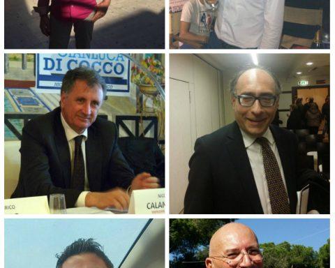 In alto Raimondo Tiero e Massimiliano Carnevale; al centro Nicola Calandrini e Enrico Tiero; in basso Angelo Tripodi e Matteo Adinolfi
