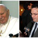 Papa Giovanni Paolo Secondo e il sottosegretario al Lavoro Claudio Durigon