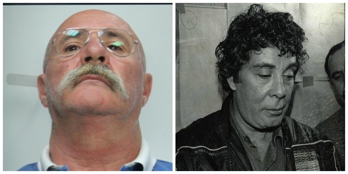 Silvio Guerrera pentito di Cosa Nostra e, a destra, Tommaso Buscetta, il pentito grazie al quale fu istruito da Giovanni Falcone e i giudici del pool il maxiprocesso a Palermo nel 1986