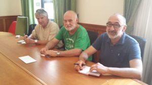 Teo Peppicelli, Gualtiero Alunni e Corrado Bisini