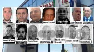 Gli arrestati dell'operazione Omphalos (da internapoli.it