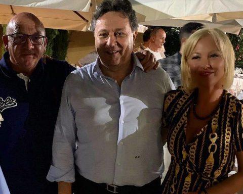 Il consigliere regionale Pino Simeone, il senatore Claudio Fazzone e l'assessore di Roccagorga Lubiana Restaini