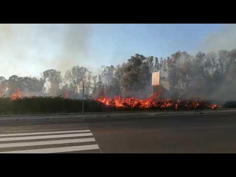 Incendio a Viale Le Corbusier