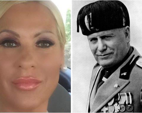 Lubiana Restaini e Benito Mussolini