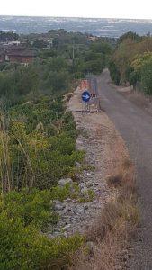la strada ceduta a La Ciana