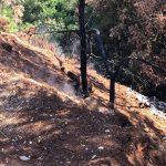Fumarola nella discarica abusiva di Calabretto, Itri