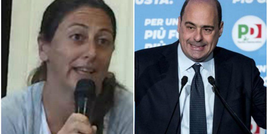 Gaia Pernarella (consigliere regionale M5S) e il Governatore Nicola Zingaretti