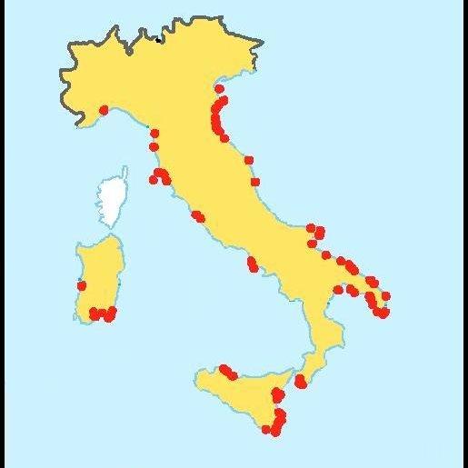 Italia: aree affette da salinizzazione in Italia secondo l'Agenzia europea ambiente