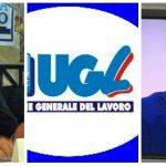 Nicola Calandrini, il logo Ugl e Claudio Durigon