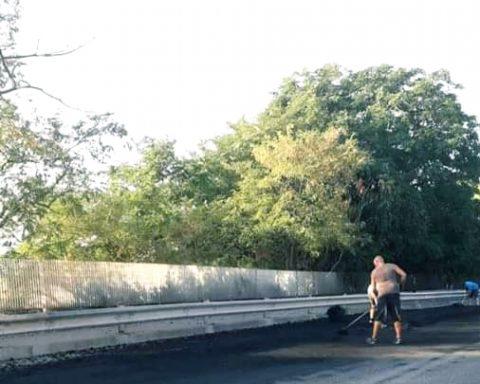 Un'immagine dello sversamento avvenuto questa mattina tra Formia e Gaeta