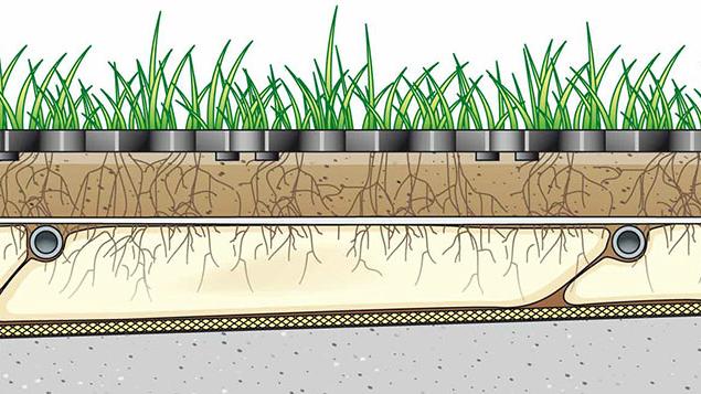 Esempio di impianto di sub-irrigazione