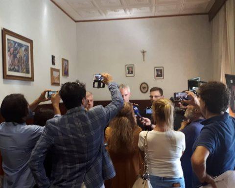 Conferenza stampa al Comando provinciale dei Carabinieri di Latina