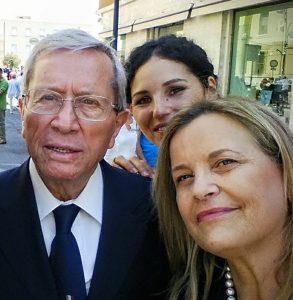 L'ex senatore e sindaco di Formia Michele Forte (deceduto nel 2015) e Marilena Sovrani in una foto di qualche anno fa