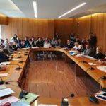 Un'immagine da un'aula di una commissione in Regione Lazo