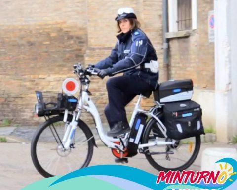 bici pedalata assistita dei vigili urbani minturno
