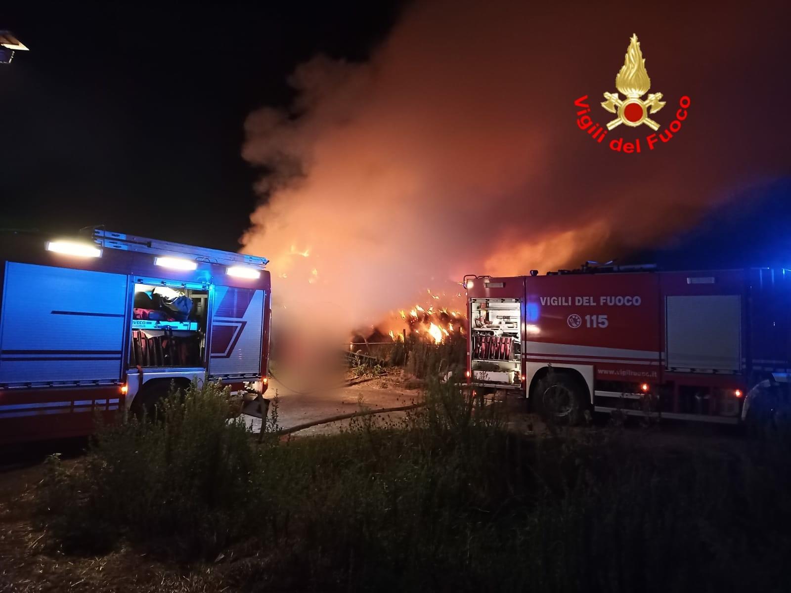 incendio a Pontinia