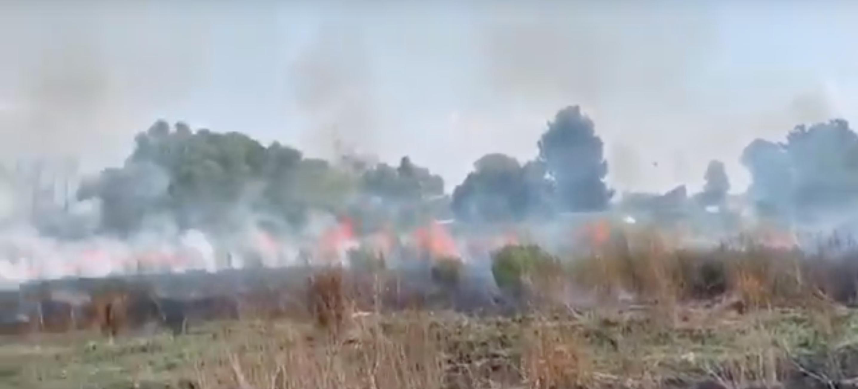 incendio tra Via Ezio