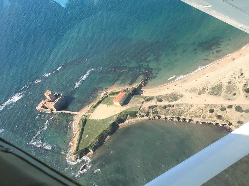 Torre Astura, ripresa aerea