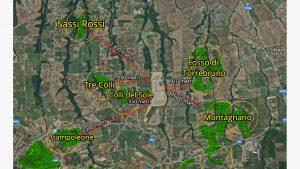 Questa è la distanza dei centri abitati dalla discarica. Dovremo per forza di cose specificare che si tratta di strumenti online quelli fatti per le misurazioni e che sono solo ed esclusivamente indicativi.