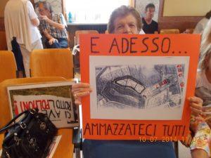 Protesta in Consiglio Comunale da parte degli abitanti di Via Monfalcone (anno 2014)