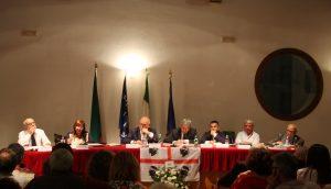 Solinas a Itri tavolo dei relatori del convegno di sabato 5 ottobre