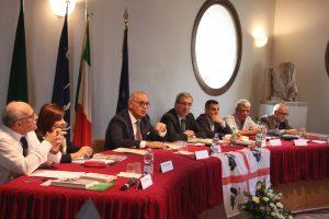Solinas a Itri tavolo dei relatori dell'incontro di sabato 5 ottobre