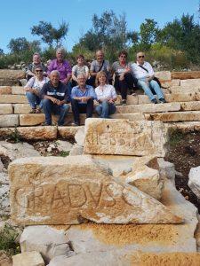 Solinas e i sardi, con gli Itrani, nella zona archeologica di San Cristoforo