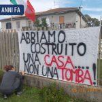 4 anni fa: uno dei manifesti di fronte alla Discarica di Borgo Montello