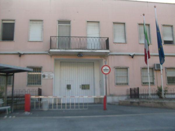 L'ingresso del carcere di Cassino