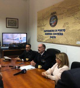 il Capitano di Vascello Vincenzo Leone, Direttore marittimo del Lazio