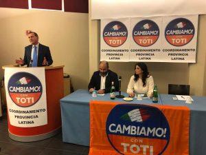Mario Abbruzzese, Adriano Palozzi e Gina Cetrone all'Hotel Europa