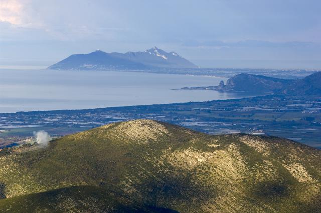 Vista eccezionale dalla Madonna della Civita di Itri, quello che millenni fa veniva chiamato Sinus Amyclanus o Golfo di Amyclae