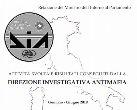 DIA ANTIMAFIA RELAZIONE 2019