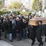 I funerali di Massimiliano Moro (foto da Leggo.it)