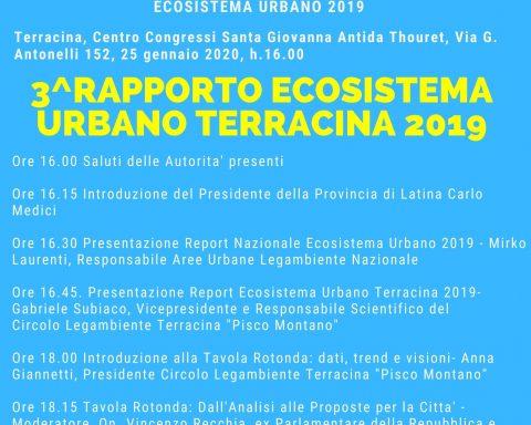 LOCANDINA ECOSISTEMA URBANO TERRACINA 2019