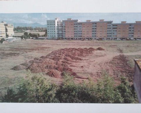 L'area dove il Comune di Pontinia dove dovrebbe sorgere il campo sportivo